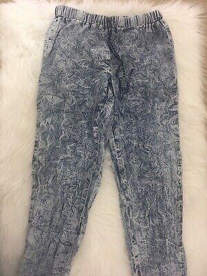 MUDD Sweat Pants Stone Acid Wash Drawstring Elastic Waist and Cuffs Size Small