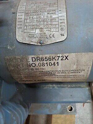 Ametek Dr65k72x Vacuum Blower 3ph Will Test Run Before Shipped