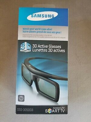 Samsung 3D Active Glasses, Lunettes SSG-3050GB for Smart TV
