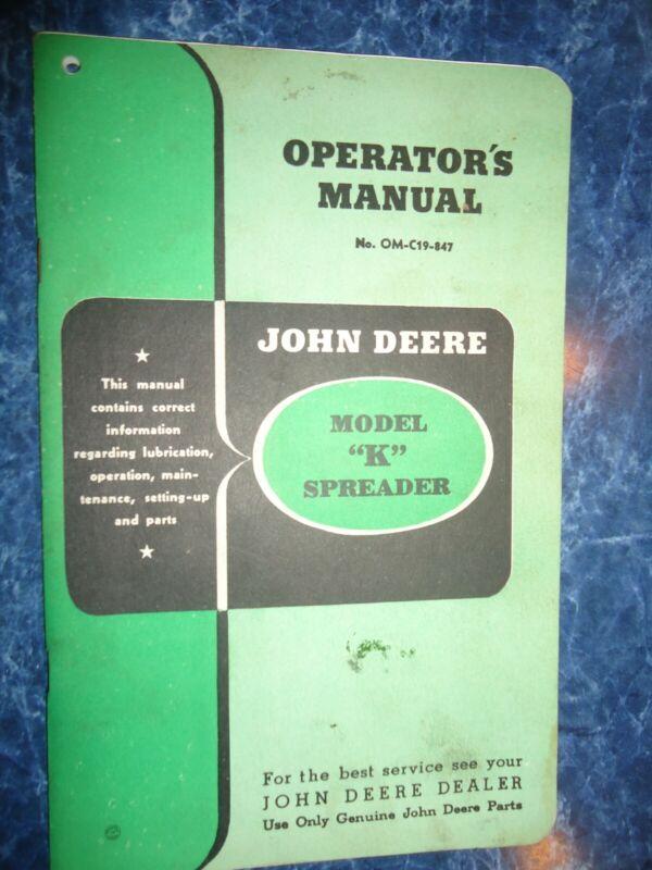 Vtg John Deere Operator
