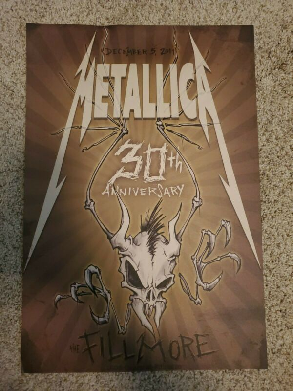 Metallica 30th Anniversary At The Fillmore Limited Edition Poster