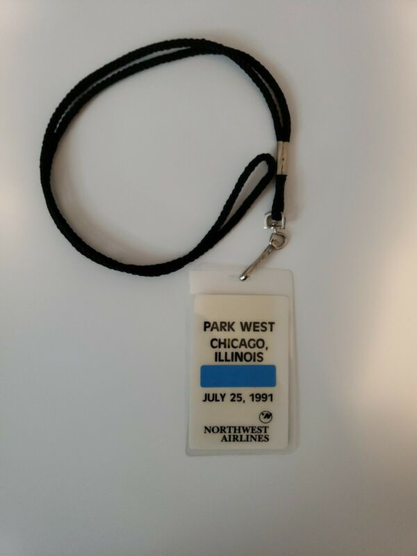 Rare Vintage 1991 Original Northwest Airlines NWA ID Lanyard Parking All Access