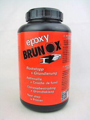 Rostsanierer + Grundierung Rostentferner Rostumwandler 1Liter epoxy BRUNOX