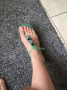 Marc Fisher jelly flat sandals size 7
