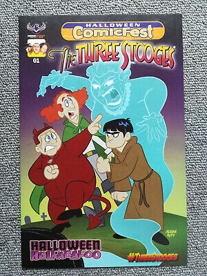 The three Stooges Halloween Hullabaloo Halloween Comic Fest