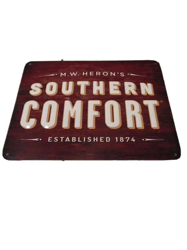 Southern Comfort Tin Embossed  Bar Sign 11X14 Inch MW Herons EST 1874 Man Cave