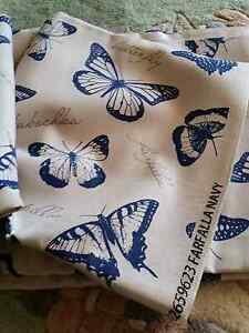Butterfly Linen upholstery sewing fabric remnant material Drummoyne Canada Bay Area Preview