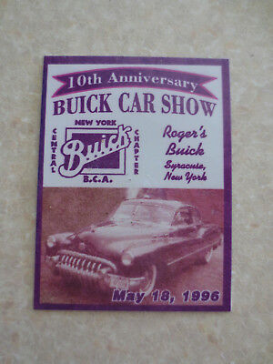 Buick Car show New York Central Chapter Buick Club of America car dash badge