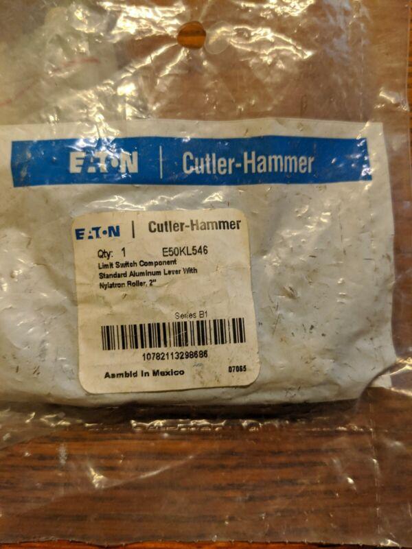 """CUTLER HAMMER E50KL546 LIMIT SWITCH ALUMINUM LEVER W/ NYLATRON ROLLER 2"""" NIP"""