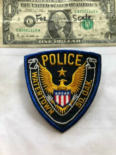 Watertown South Dakota Police Patch un-sewn in great shape