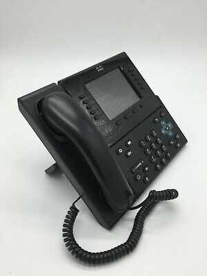 Cisco CP-8961 IP Phone VoIP Black w/ Handset Stand  AC adapter CP8961 -