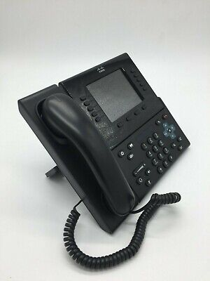 Cisco Cp-8961 Ip Phone Voip Black W Handset Stand Ac Adapter Cp8961 Cp-8961