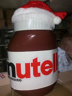 Barattolo Nutella Gigante cappello natale Pouf Ferrero