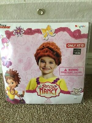 Disney Fancy Nancy Red Child Wig Hair Halloween Dress Up Costume New