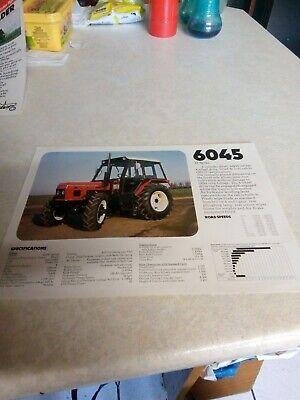 zetor 6045 tractor sale brochure 1 page na sprzedaż  Wysyłka do Poland