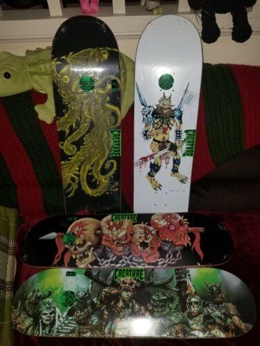 GWAR Creature Skateboard Deck SET OF 4! Skulls + Oderus + Band + Comic! SOLD OUT