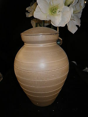 NATURAL EARTH Vase Style Bio Friendly Cremation ADULT  Urn  #50 Remains