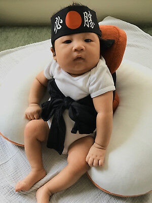 Baby Sushi Costume Musubi Sashimi and Belt NO headband - Birthday - Halloween](Sushi Baby Costume)
