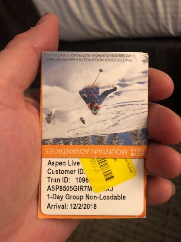 Aspen Ski Lift Ticket