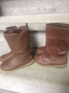 Toddler girl size 9 brown boots