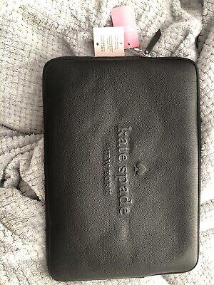 """Kate Spade Logo Laptop Sleeve Black Fits 15"""" Laptop"""