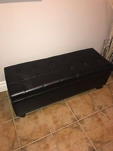 High end Real Leather Ottoman