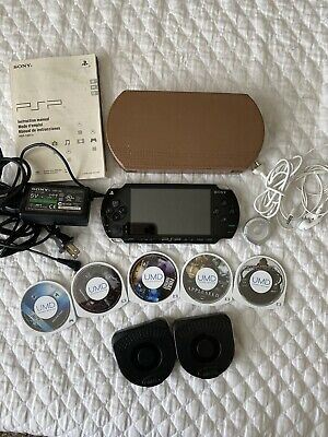 Sony PlayStation - Black PSP-1001 With Game, Movies, Case, & Charger Bundle