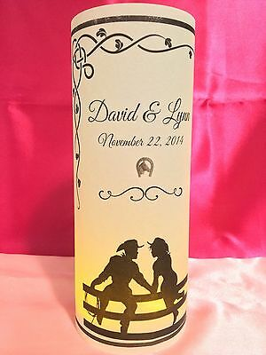 10 Personalized Country Western Wedding Luminaries Table Centerpieces Decor - Horseshoe Table Decorations