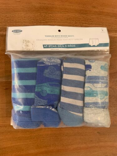 NEW 4T-5T OLD NAVY Toddler Boys Boxer Briefs Cars - 4 PACK