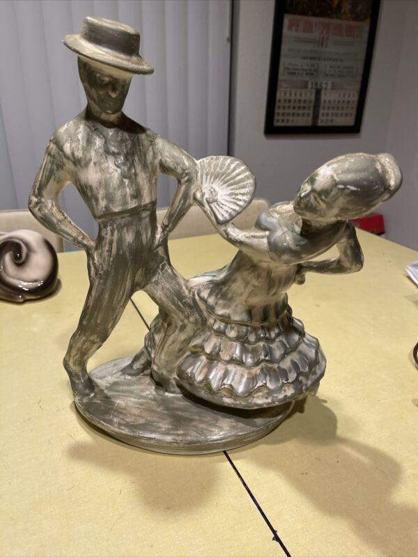 "Vintage Maddux Of California Tv Lamp ""Flamenco Dancers"" Rare MCM 1950s"