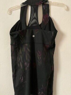 Lululemon Scoop Neck Tank Midnight Iris Size 10 Lululemon Black Floral Tank Top