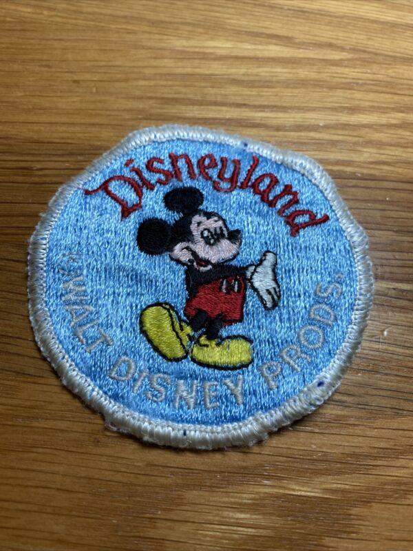 "Vintage Disneyland Embroidered Mickey Mouse Patch-unused 3"" Walt Disney Prods."