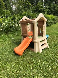 Toddler playground with slides