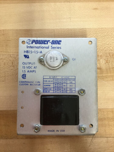 POWER-ONE HB15-1.5A OUTPUT *NEW