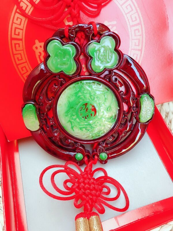 Chinese Knot FU-Good luck Knot for Happiness Luck Wealth Silk Pendant Folk 福吉祥如意