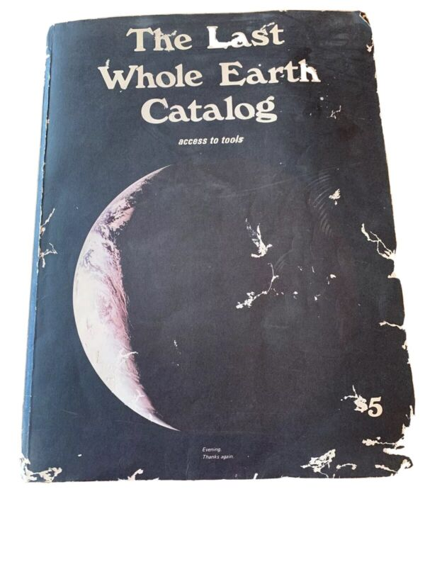 Vtg THE LAST WHOLE EARTH CATALOG 1971 5th Printing Large Book Cover Wear