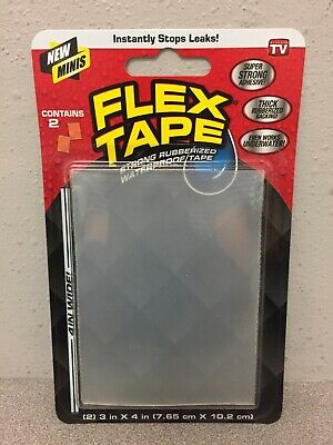 Flex Tape Tfsclrmini-8 As Seen On Tv 3 In. W X 4 In. L Clear Waterproof Repair T