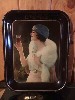 Antique ORIGINAL 1925? COCA COLA TRAY Flapper Girl American Art Works