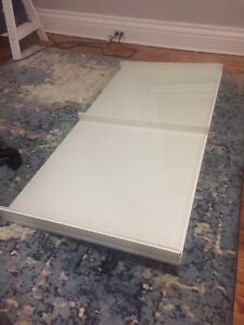 Ikea glass top desk
