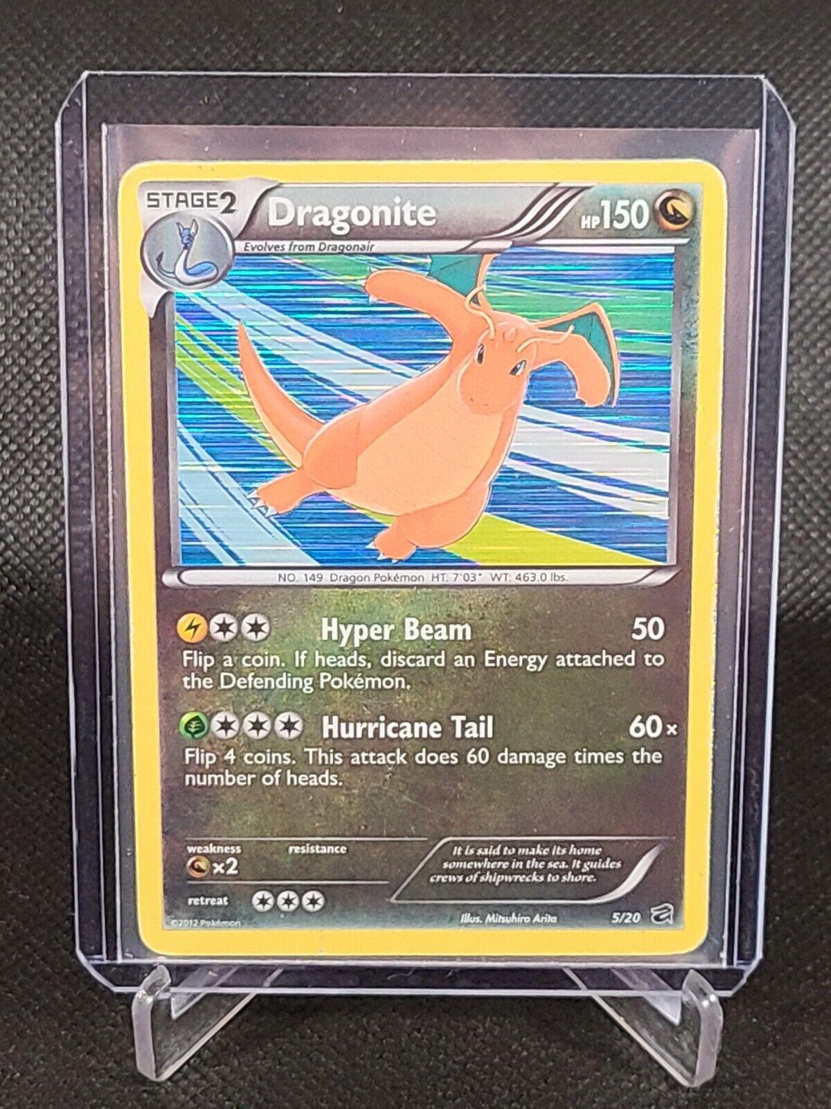 Dragonite 5/20 Dragon Vault Cosmic Holofoil Pokemon Card - $11.99