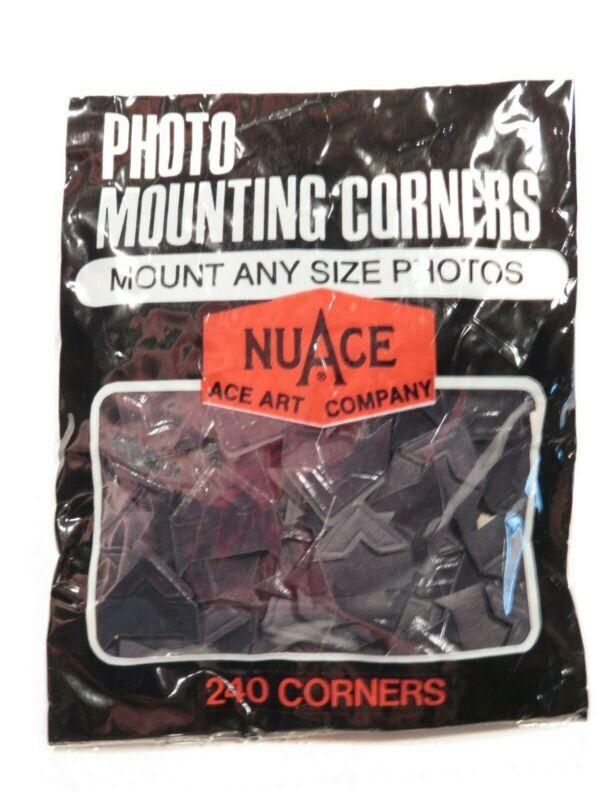 Vintage NuAce Photo/Scrapbook Mounting Corners - Black