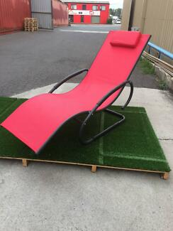 OUTDOOR SUN LOUNGE, RED