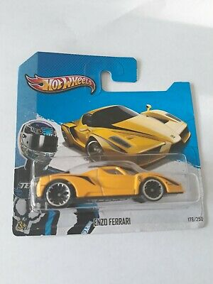 Hotwheels Enzo Ferrari Yellow Short Card