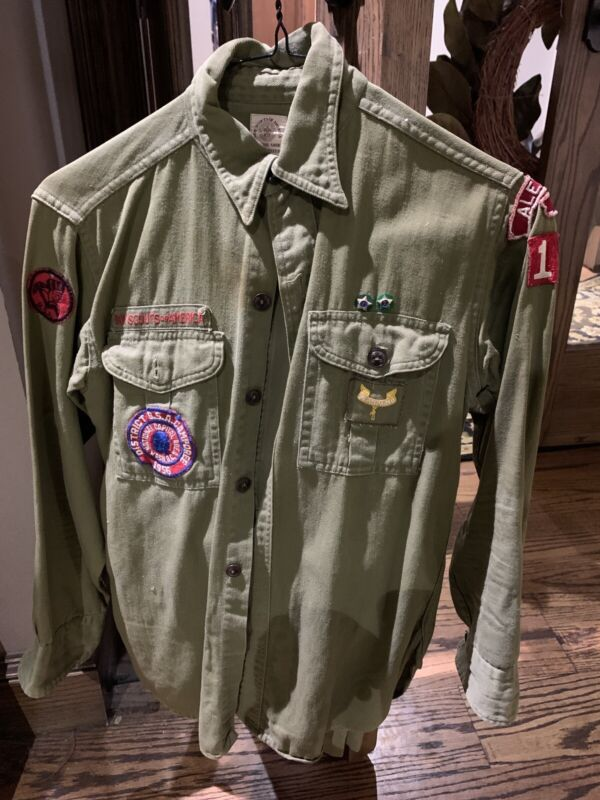 Early Boy Scout Uniform With Patches, Sash, etc. Plus Extras