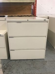 Global 3 Drawer Filing Cabinets - Great Condition