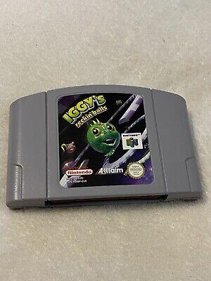 Iggy's Reckin Balls N64 Nintendo 64 Cartridge Only PAL Free Postage