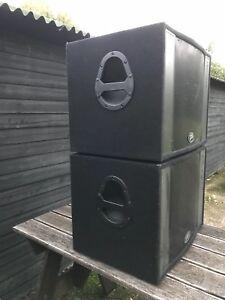 "Pair of peavey pro subs 600w 15"" speakers sub subwoofer bass bins 4ohm DJ"