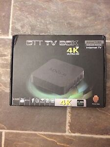4K ultra hd android boxes brand new, with kodi software .