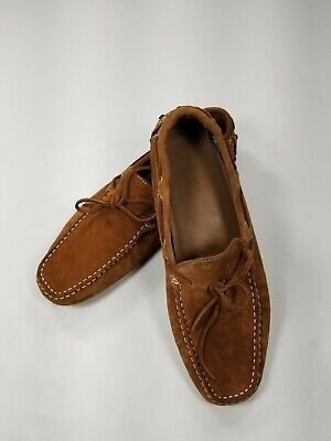 Men's Zara Man Brown Suede Driving Loafers Slip On Moccasin Size EU 45