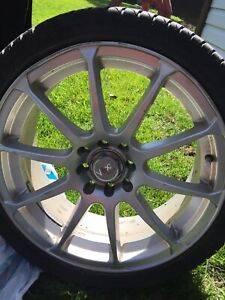 Dunlop Tires and Voxx racing rims